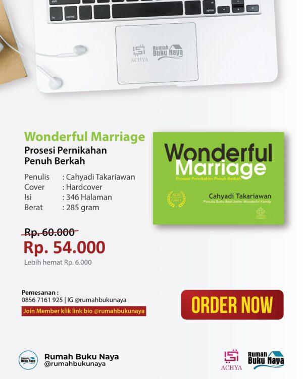 Jual Buku Wonderful Marriage - Rumah Buku Naya