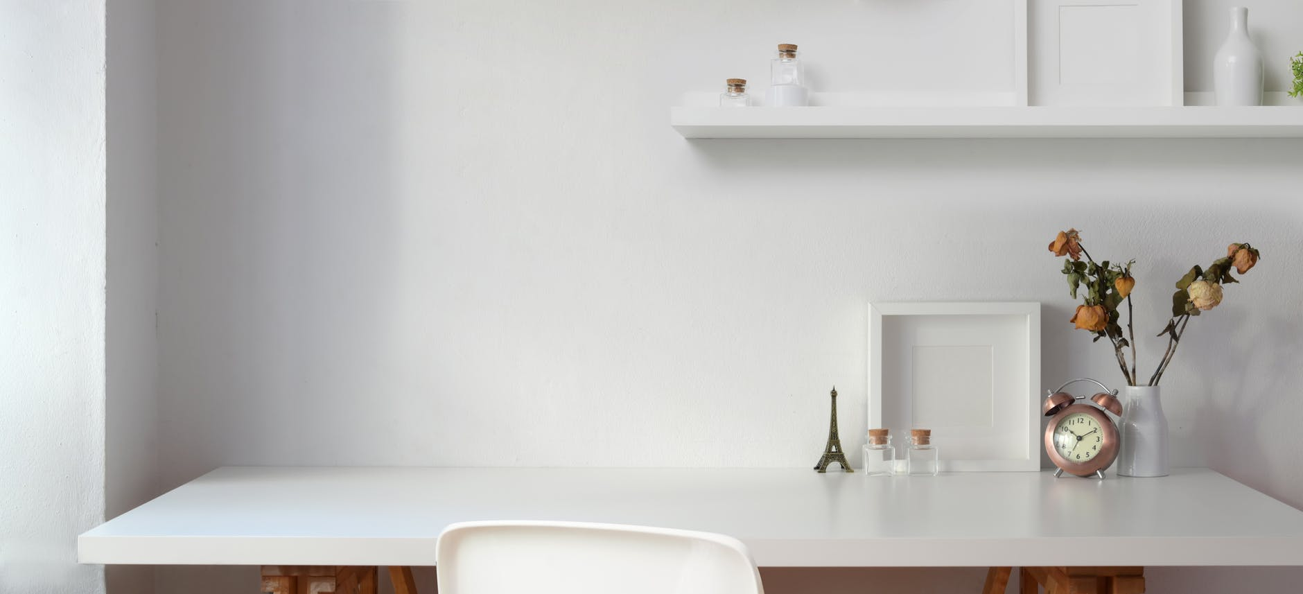 white table near wall